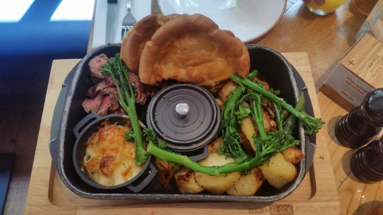 Roast dinner at Bar & Block, King's Cross