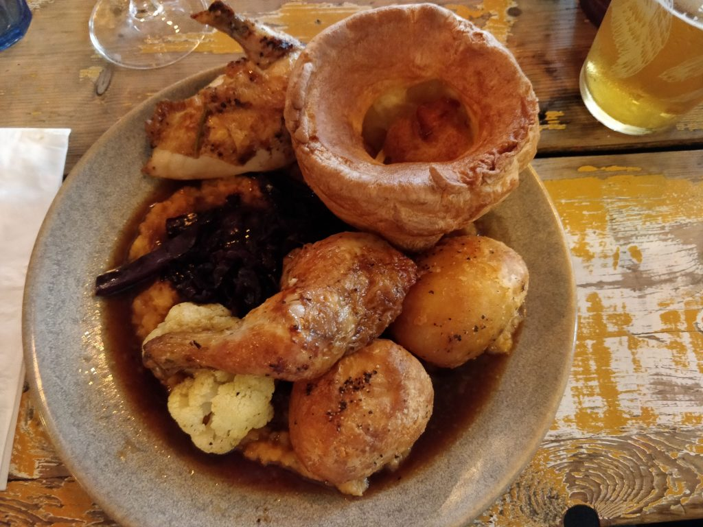 Sunday roast at The Eagle in Ladbroke Grove