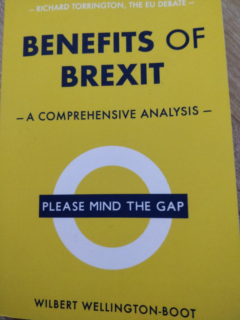 """Book called """"The Benefits of Brexit"""""""