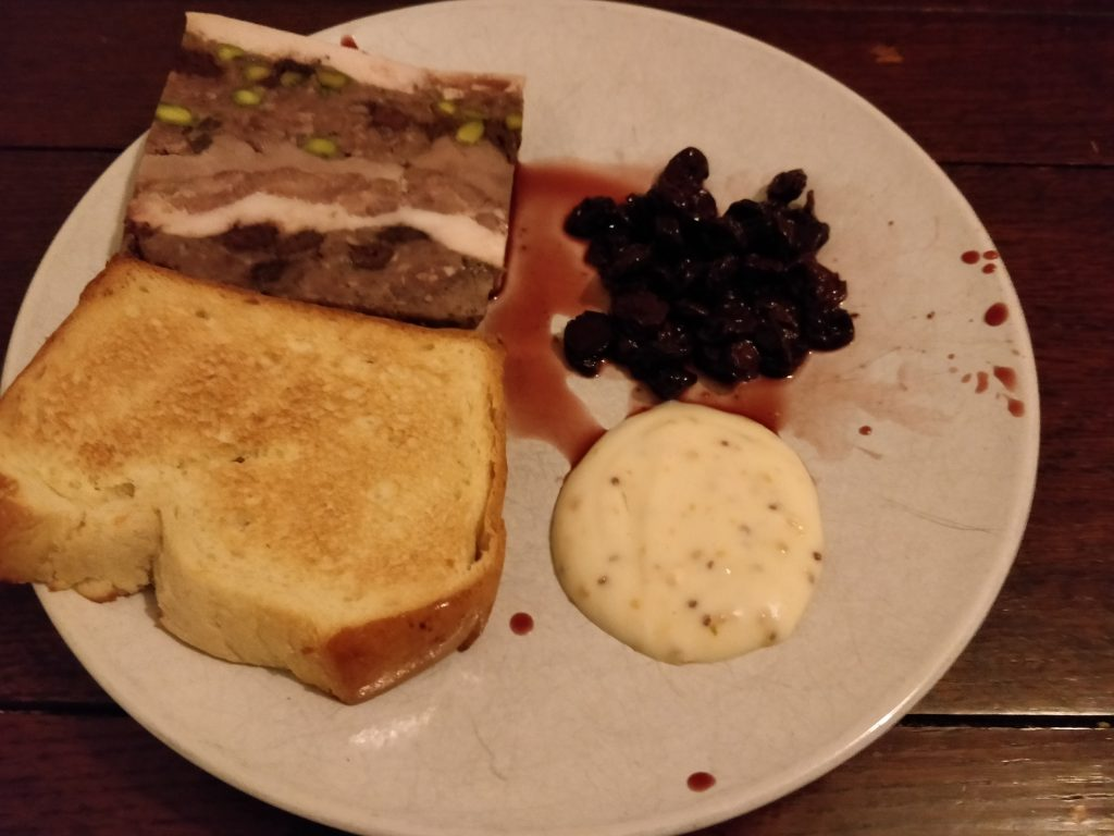Jimmy's Popups Game terrine with cherries