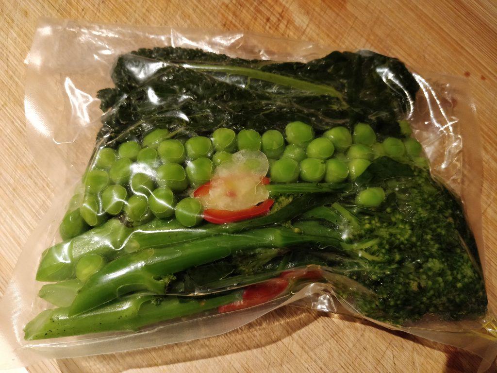 Jimmy's Popups Roast Dinner vegetables - including evil peas