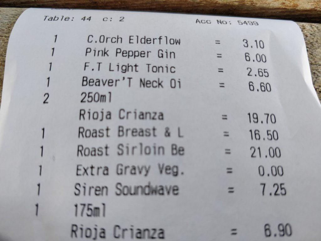 £7.25 a pint