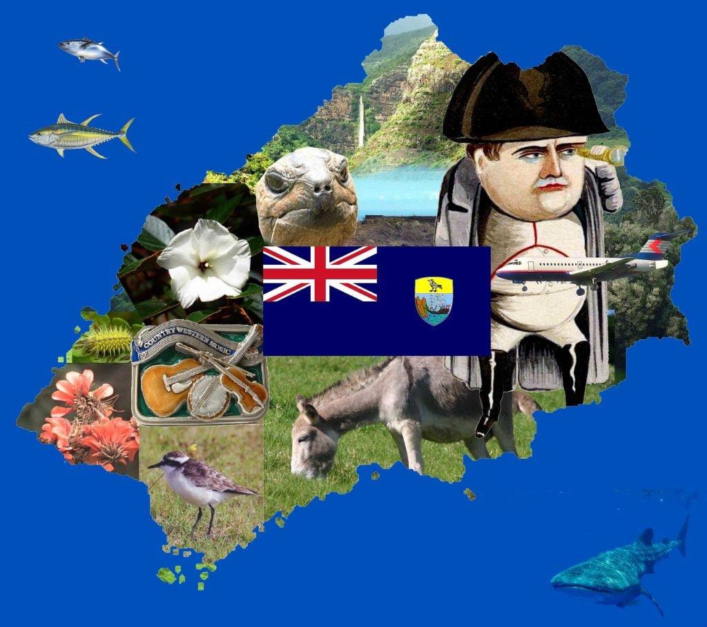 Weird St Helena tourist image collage