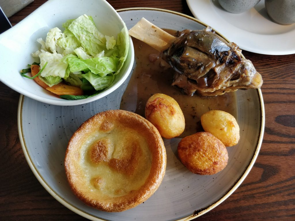 Tattershall Castle roast dinner from 2019
