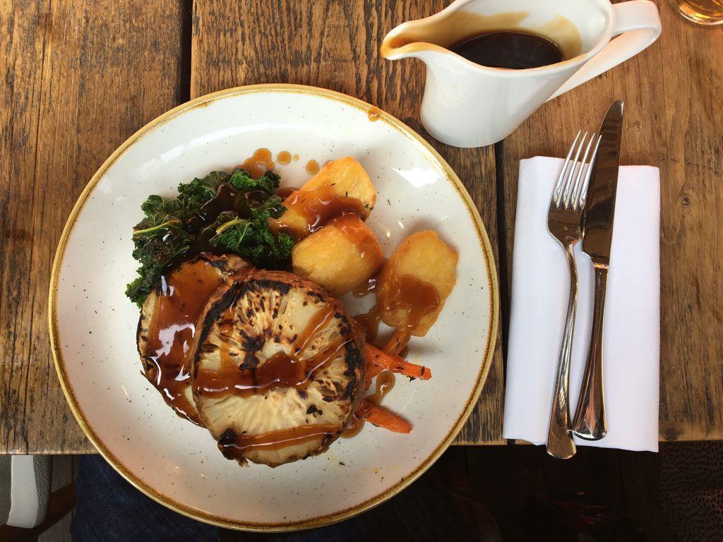 The Farrier, Camden, Vegan roast dinner
